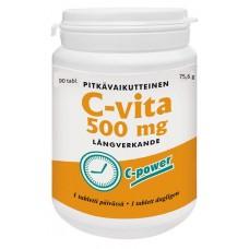 C-vita 500 mg pitkävaikutteinen 90tbl