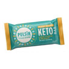 Pulsin Keto Suklaafudge-Maapähkinä Proteiinipatukka 50g