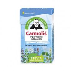 Carmolis Piparminttu Stevia yrttipastilli 45g