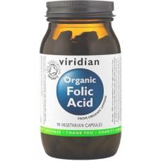 Viridian Folic Acid Luomu Foolihappo 90kps