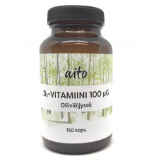 Aito D3-vitamiini 100mcg 150kps