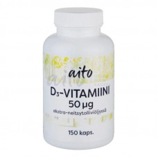 Aito D3-Vitamiini 50mcg 150kps