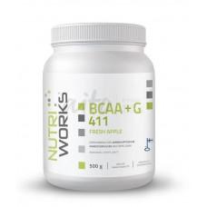 Nutri Works BCAA-jauhe+G omenanmakuinen 500g