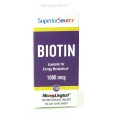 Biotin 1000mcg 100tbl Superior Source
