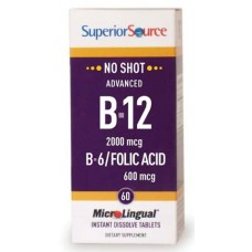 Advanced B12 2000mcg +B6 +Folic Acid 600mcg 60tbl
