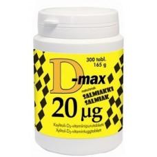 D-Max 20mcg salmiakki 300tbl