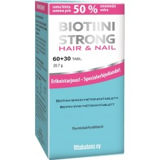 Biotiini strong hair and nail 60+30 tabl.