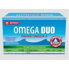 Bioteekin Omega DUO E-EPA + E-DHA 650 mg (120 kaps.)