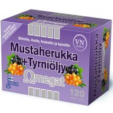 Mustaherukka+Tyrniöljy Omegat 60kps