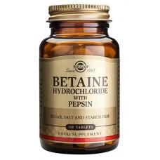 Betaiini Hydrokloridi+pepsiini Solgar 100tbl