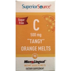 C-vitamin 500mg *Tangy*Orange Melts 90tbl Superior Source