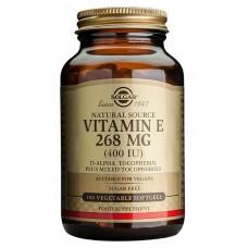 E-vitamiini kasvikapselissa Solgar 50kps