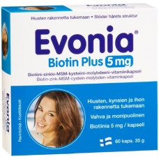 Evonia Biotin Plus 5mg 60kps