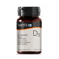 Bertils D3-vitamiini 50mcg 150purutbl