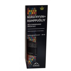Nuku Hyvin Melatoniini+ Hamppuöljy Nordaid 30ml