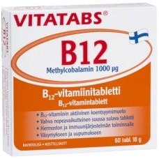 Vitatabs B12-vitamiini 1000mcg metyylikobalamiini 60tbl