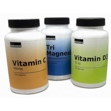 Nordicvita c-vitamiini, magnesium ja d-vitamiini
