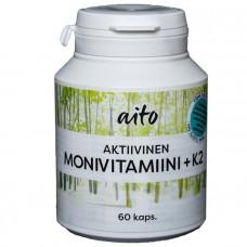 Aito Aktiivinen Monivitamiini+K2 60kps