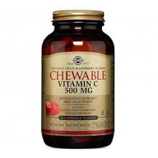 C-vitamiini imeskeltävä 500mg  karpalo-vadelma 90tbl Solgar