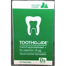 Gutguide Toothguide Maitohappo ja D3-vitamiini 30purutbl