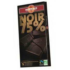 Tumma luomusuklaa 100 gram 75 pros