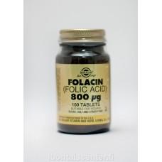Foolihappo Folacin 800 ug 100 tabs Solgar