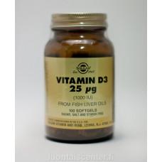 D3-vitamiini 25 mcg Solgar 100kps